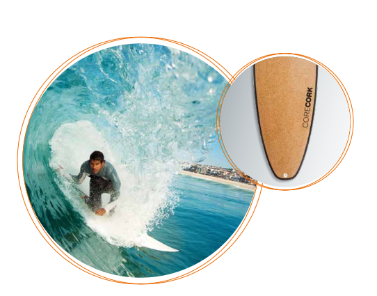 пробковая доска для серфинга