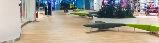 Дизайнерские полы MIcodur (Микодур)  можно увидеть в Италии  в аэропорту города Турина