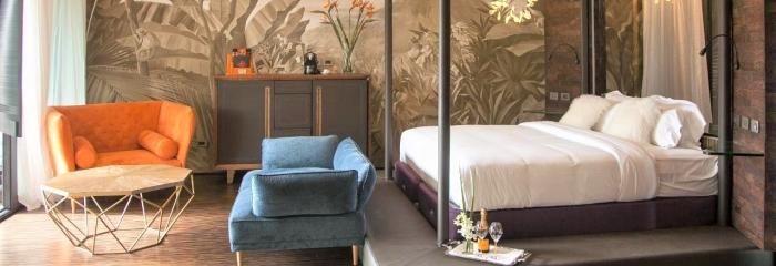 """Hotel Makanda в Коста- Рике (Costa Rica) номер  """"WOW Loft"""" продуманно использованы пробковые покрытия"""
